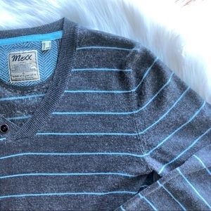 3/$30 Men's MEXX lightweight grey stripe sweater
